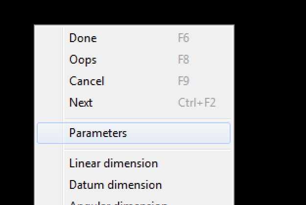 Dimension Environment - Parameters